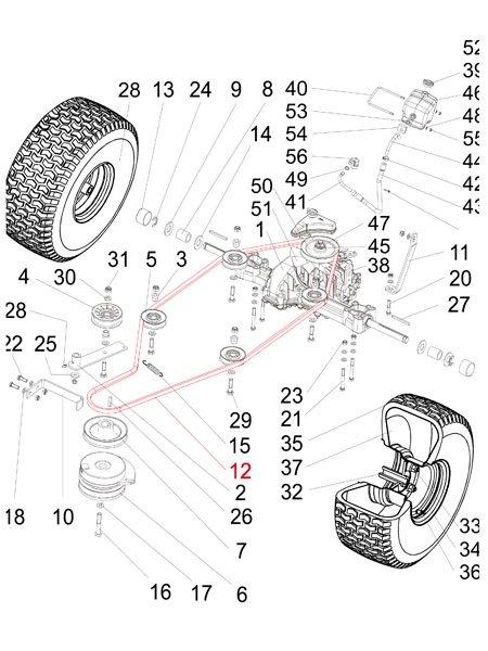 Keilriemen Fahrwerks-Antrieb Silvertrac MAX 2200 und 4WD