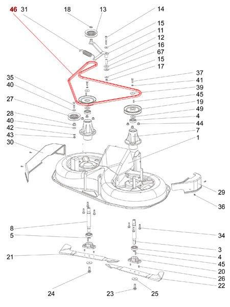 Keilriemen Messer-Antrieb Silvertrac PRO