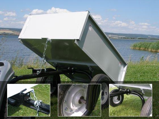 Anhänger 300 kg kippbar silber