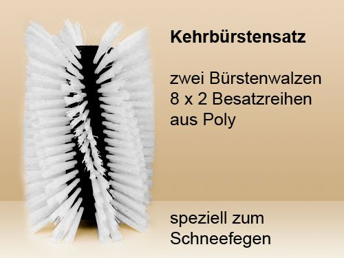 Kehrbürstensatz 8x2 Reihen Poly für Limpar 82 Pro