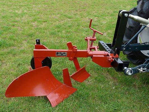 Einschar Beetpflug 18 cm mit Rad