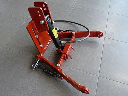 3 Punkt Hydraulik bis 500 kg und verstellbarer Unterlenkerweite