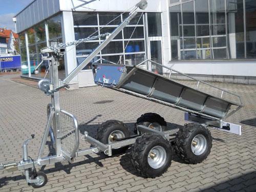 universal nh nger f r quad atv oder traktoren als r ckewagen forstanh nger universal anh nger. Black Bedroom Furniture Sets. Home Design Ideas